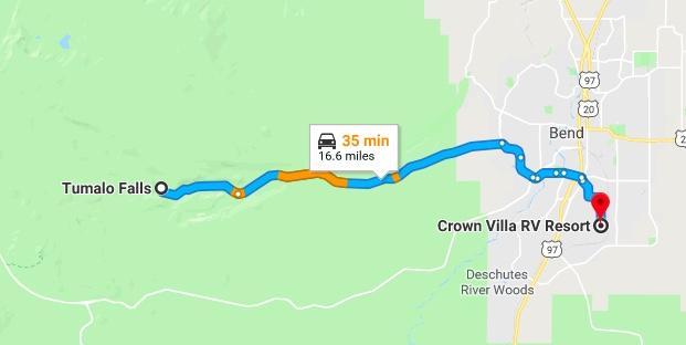 CVRV to Tumalo Falls