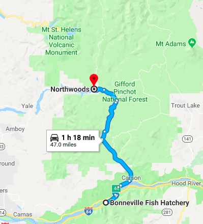 map to northwoods