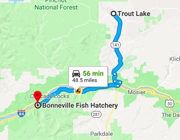 map to troutdale